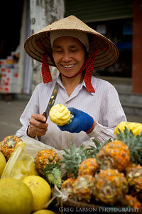 Pineapple Vendor, Hanoi, Vietnam.