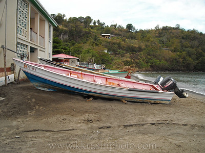 We stopped in the small fishing village of Anse la Raye.
