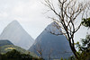 Our first view of Les Pitons.