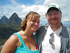 Us in front of Les Pitons
