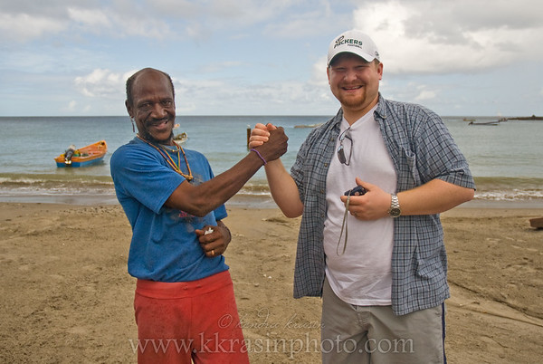 This fisherman wanted us to take pictures of him alone and then him with Paul.  And then guess what?  He wanted money!