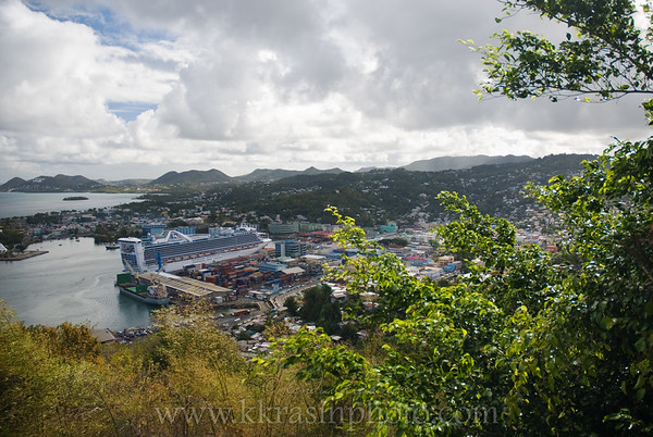 There was a Princess ship in St. Lucia when we were there