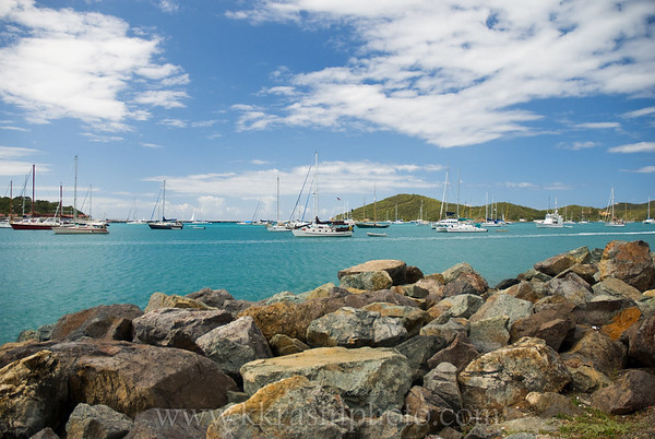 """Looking out over """"Yacht Haven"""" during our walk"""