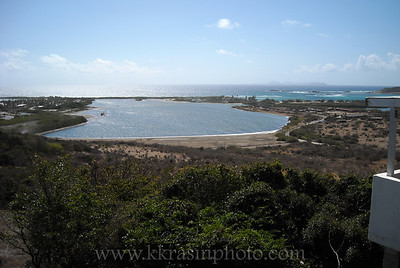 This is a salt pond, which was St. Maarten's primary export before refrigeration