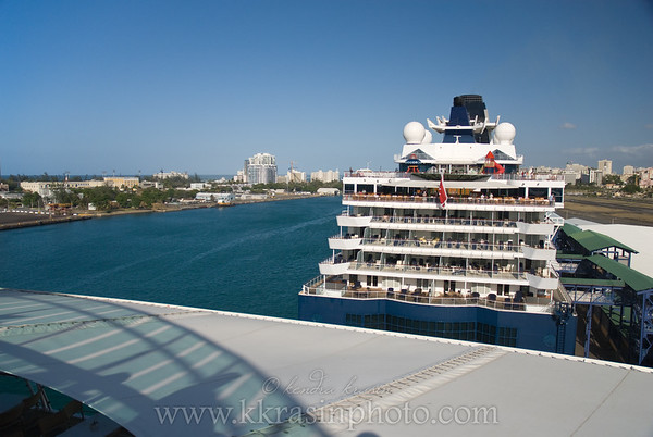 The Celebrity ship that was docked in San Juan at the same time as we were.