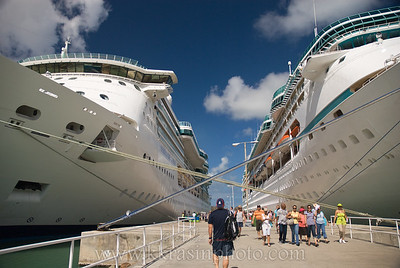Antigua was the first port where there was another ship - Vision of the Seas.