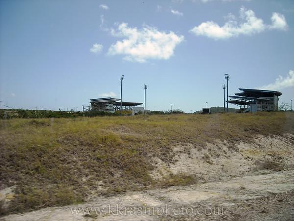 The cricket stadium