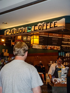 Paul likes coffee from Caribou - especially at the airport.