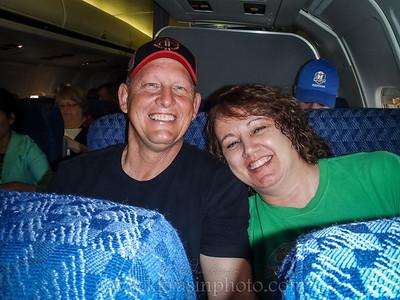 My mom & Tim ready to fly