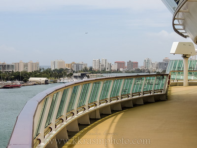 This one's a little early - my mom's camera wasn't set to the right time!  :)  This is from the ship, looking at San Juan.