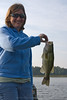 Carol's 2nd fish on artificial bait