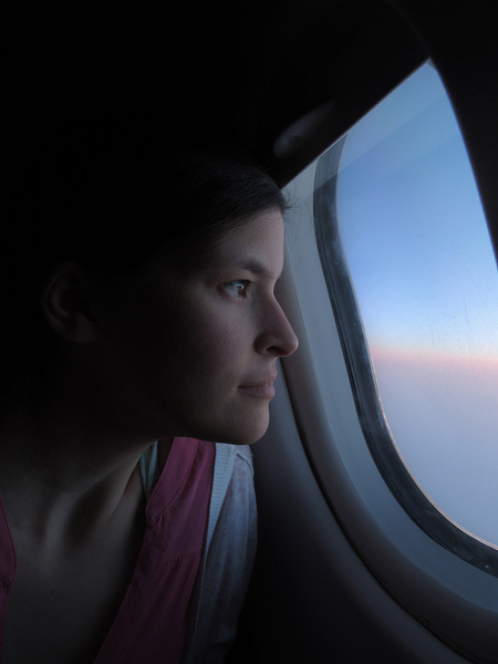 That's me gazing out over the Arctic! My cousin and I are on our way to meet her sister and a friend in Bangkok, Thailand.