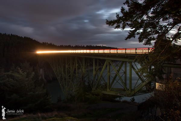 Light Trails Over Deception Pass
