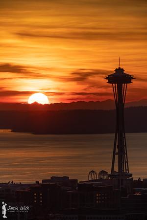 Seattle Space Needle Sunset