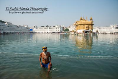 "The Harmandir Sahib (Punjabi: ਹਰਿਮੰਦਰ ਸਾਹਿਬ), also Darbar Sahib (Punjabi: ਦਰਬਾਰ ਸਾਹਿਬ, )(The abode of God), and informally called the ""Golden Temple"", is the holiest Sikh gurdwara located in the city of Amritsar, Punjab, North India."