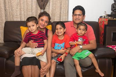 Anu & Tathatgata Bose family at dinner at Amit & Divya Gupta residence. Hong Kong.