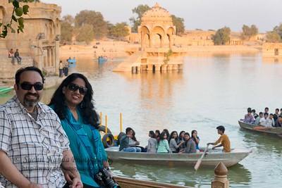 Anu & Suchit at Gadisar Lake, Jaisalmer, Rajasthan.