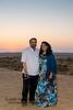 Anu and Suchit at the Sunset Point at Rawala Resort, Sam Desert in Jaisalmer, Rajasthan.