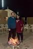 Anu & Suchit on a cold night at the fire place at Rawala Resort, Sam Dunes, Jaisalmer, Rajasthan.