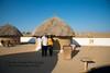 Anu and Suchit at the desert huts in the Rawala Resort, Sam Desert in Jaisalmer, Rajasthan.