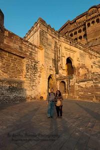 Anu & Suchit at Mehrangarh Fort, Jodhpur, Rajasthan.