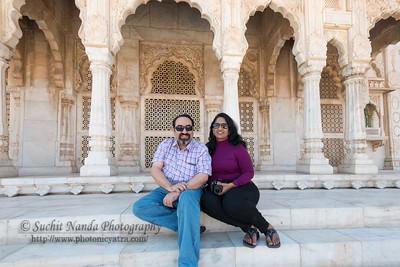 Anu and Suchit at Jaswant Thada, Jodhpur, Rajasthan, India.