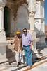Suchit with caretaker at Jaswant Thada, Jodhpur, Rajasthan, India.