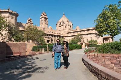 Anu & Suchit at Umaid Bhavan Palace Museum, Jodhpur, Rajasthan.