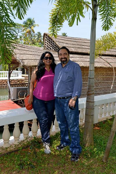 Anu & Suchit Nanda at Club Mahindra, Cherai Beach, Kerala, India.