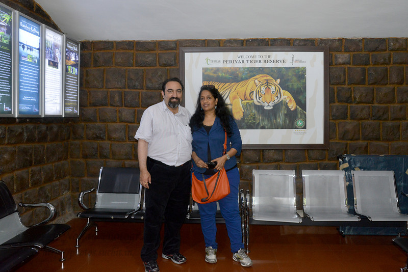 Anu & Suchit Nanda at Periyar Tiger Reserve, Thekkady, Kerala, India.