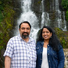 Anu & Suchit Nanda at the waterfall in Thekkady, Kerala, India.