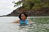 Anu (Arundhathi) in the sea waters at Langkawi, Malaysia