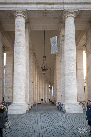 Might columns along St. Peter's Plaza