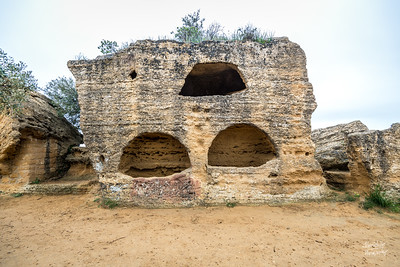 These burial holes, built in the cisterns, are  from the late-Roman and Byzantine eras.