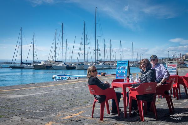 Lunch along the Marina on the Island of Ortigia