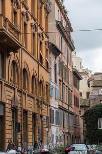 Via della Madonna dei Monti near the oldest house in Rome - just ahead