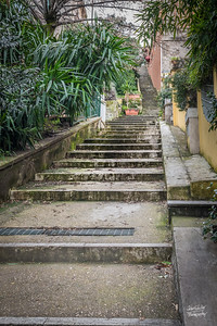 The long steps up to the Vatican
