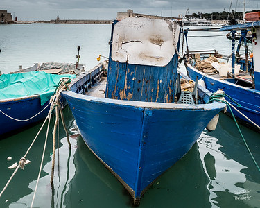 A hard-working blueboat of Trani
