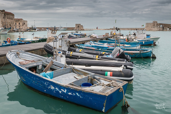 Guarding the Trani Harbor on the right is the Church of Sant'Antonio Abate al Fortino.