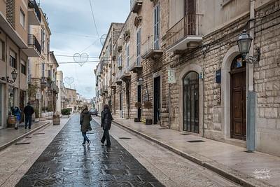 Welcome to Trani.  Walking up via San Giorgio towards the harbor.