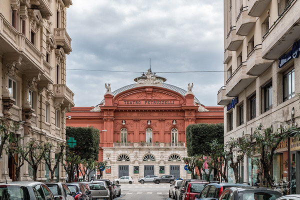 The Teatro Petruzzelli is the largest theatre of the city of Bari and the fourth Italian theatre by size. Built in 1903, it was destroyed by fire in 1991.  A range of legal actions then followed, with the building changing hands between private ownership and ultimately being rebuilt and returned to City of Bari ownership in 2009.