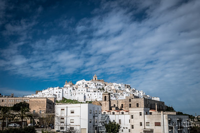 """""""White City"""" on the hill - distance shot."""