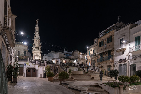 Entering the main plaza in Ostuni... on our way to dinner.