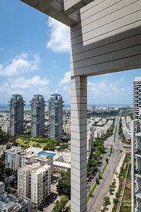 Looking north from the apartment in Tel Aviv ...