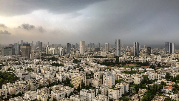 Morning storm in Tel Aviv