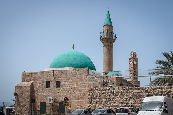 Mosques rise from within the old city of Akko