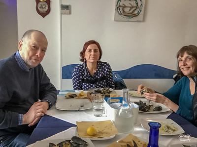 Lunch in Barletta with Ron, Nancy and Raffaela