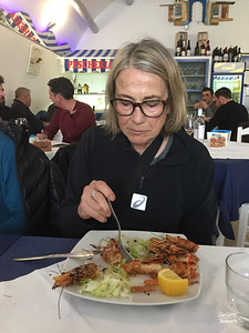 Yep - Denise is working through her shrimp.  Mmmmm...
