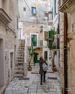 Weaving through the marble-covered streets of Polignano's historic section