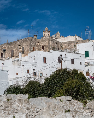 Looking up hill at historic Ostuni